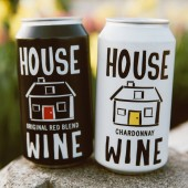 House Wine Original Red Blend can and Chardonnay can