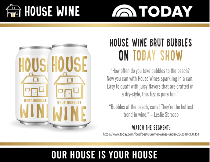 Precept Wine House Wine Brut Bubbles Can On The Today Show