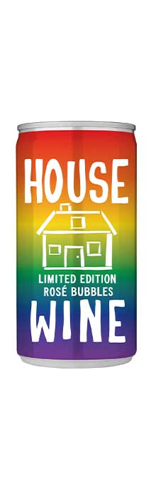 House Wine Limited Edition Rosé Bubbles 187mL Can