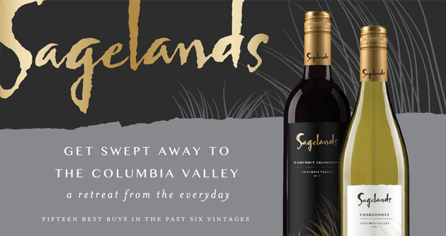 Sagelands - Get swept away to the Columbia valley, a retreat from the everyday. Fifteen Best Buys in the pas six vintages.